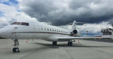 Primul zbor transatlantic din istorie efectuat fără escală la Aeroportul Internațional Maramureș. Aeronava Bombardier a venit tocmai din Florida