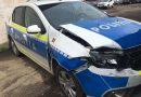 CA IN FILME: Un borșean fară permis a acroșat autospeciala poliției, în timp ce era urmărit în trafic. S-au tras și focuri de armă
